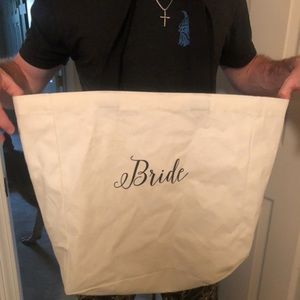 """Large """"bride"""" tote! Never used."""